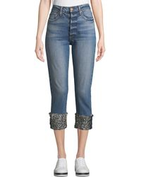 AO.LA by alice + olivia - Amazing High-rise Girlfriend Jeans With Cuffs - Lyst