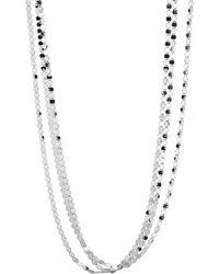 Lana Jewelry - Short Nude Three-strand Necklace - Lyst