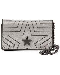 Stella McCartney - Stella Star Small Metallic Alter Napa Shoulder Bag - Lyst