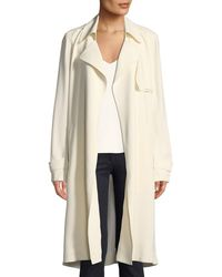 Theory - Oaklane Ws Belted Rosina Crepe Trench Coat - Lyst