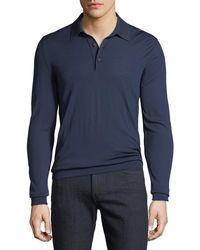 Kiton - Men's Long-sleeve Wool Polo Shirt - Lyst