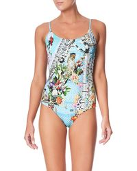 001e8a41339 Camilla Printed One-piece Swimsuit Embellished With Crystals in ...