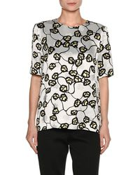 Marni - Printed Short-sleeve Top - Lyst
