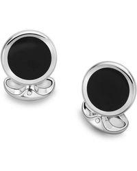 Deakin & Francis - Black Onyx Round Cuff Links - Lyst