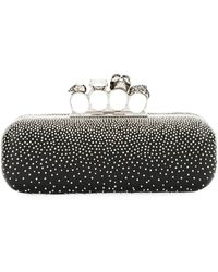 Alexander McQueen - Four-ring Knuckle Studded Napa Box Clutch Bag - Lyst