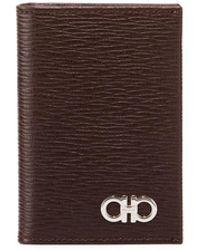 Ferragamo - Men's Revival Bi-fold Lizard-embossed Leather Card Case - Lyst