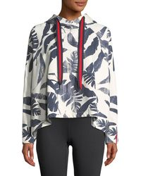 The Upside - Lennox Palm-print Pullover Hoodie - Lyst