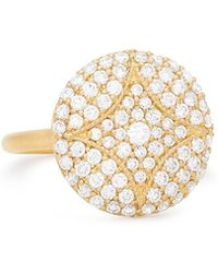 Jamie Wolf - 18k Large Pave Aladdin Disc Ring - Lyst