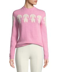 Moncler Grenoble - Long-sleeve Dog-intarsia Pullover Sweater - Lyst