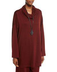 Eskandar - Ebony Cross Pendant On Leather Necklace - Lyst