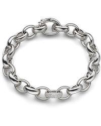 Monica Rich Kosann - Rosaling Sterling Silver Chain Bracelet With White Sapphires - Lyst