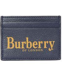 Burberry - Men's Sandon Logo-print Leather Card Case - Lyst