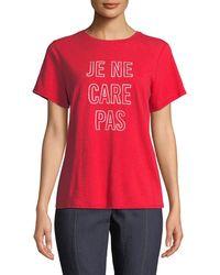 Cinq À Sept - Je Ne Care Pas Short-sleeve Graphic Tee - Lyst