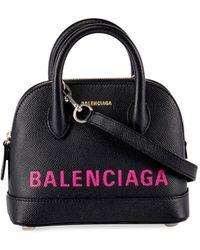 da3da398ce58 Balenciaga - Ville Xxs Aj Logo Leather Top-handle Tote Bag - Lyst