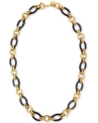 Ashley Pittman - Ikulu Dark Horn & Bronze Chain Necklace - Lyst