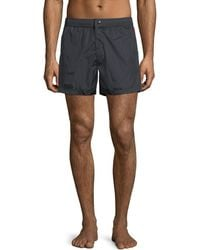 Moncler - Swim Trunks W/ Logo Taping Sides - Lyst