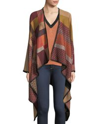 Missoni - Zigzag & Colorblock Wool Cape - Lyst
