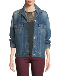 3x1 - Bijou Lace-up Chain Denim Jacket - Lyst