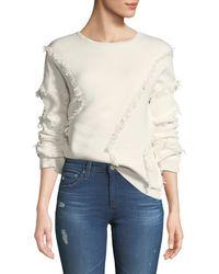 ATM - Merino Wool Fringe Pullover Sweater - Lyst