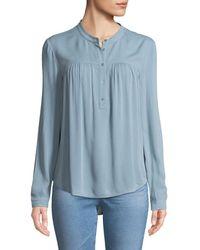 AG Jeans - Jess Quarter-placket Long-sleeve Shirt - Lyst