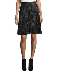 Joie - Jadian Pleated Sequin A-line Skirt - Lyst
