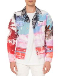 Balmain - Men's Graphic-print Canvas Jacket - Lyst