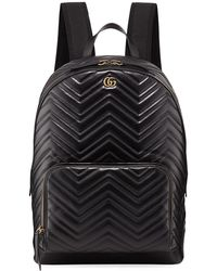fd594ee1b88c Gucci - Men s Gg Marmont Quilted Leather Backpack - Lyst