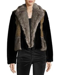 Rebecca Taylor - Patched Faux-fur Jacket - Lyst