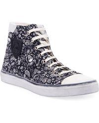 07baf993c132 Saint Laurent - Men s Bedford Graphic Canvas High-top Sneakers - Lyst