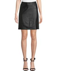 Elie Tahari - Lexie Leather Pencil Skirt - Lyst