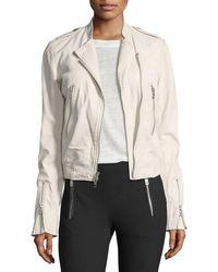 Rag & Bone | Lyon Washed Leather Moto Jacket | Lyst
