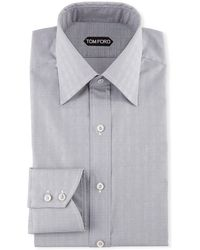 Tom Ford - Men's Prince Of Wales Pattern Dress Shirt - Lyst