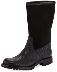 Gravati - Leather And Suede Mid-calf Boots - Lyst
