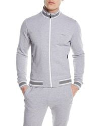 Z Zegna - Stand-collar Zip-front Cotton Sweater - Lyst