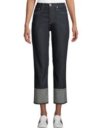 AG Jeans - The Rhett Vinte High-rise Straight-leg Jeans - Lyst