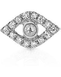Sydney Evan - 14k Diamond Evil Eye Stud Earrings - Lyst