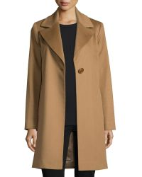 Fleurette - Wool Single-button Coat - Lyst