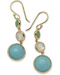 Ippolita - 18k Lollipop® Three-stone Drop Earrings In Pacific - Lyst