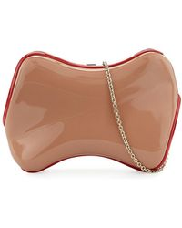 Christian Louboutin - Shoespeaks Lacquered Clutch Bag - Lyst