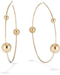 Lana Jewelry - 14k Gold 3-bead Hoop Earrings - Lyst