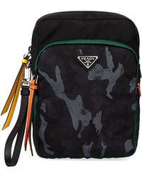 Prada - Men's Tessuto Double-pocket Patch Pouch Bag - Lyst