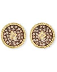Armenta - Old World Diamond Pave Stud Earrings - Lyst