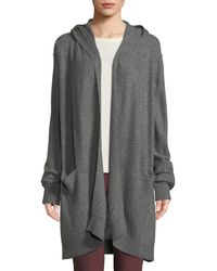 Vince - Hooded Open-front Boiled Cashmere Cardigan - Lyst