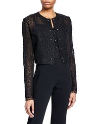 Olivier Theyskens - Lace Snap-front Shrug Cardigan - Lyst