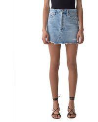 Agolde - Quinn High-rise Denim Mini Skirt - Lyst