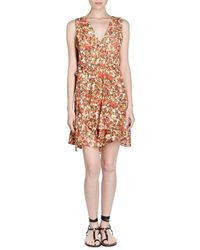 Isabel Marant - Fara V-neck Sleeveless Floral-burnout Side Wrap Dress - Lyst