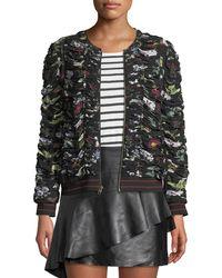 Joie - Klarika Shirred Floral Bomber Jacket - Lyst