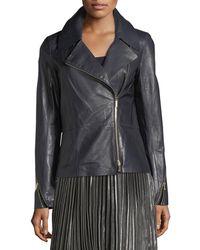 Lafayette 148 New York - Kimbry Leather Moto Jacket - Lyst