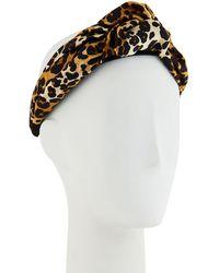 Jennifer Behr - Fiona Silk Leopard Knotted Headband - Lyst