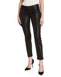 Hudson Jeans - Nico Leather Cigarette Pants - Lyst